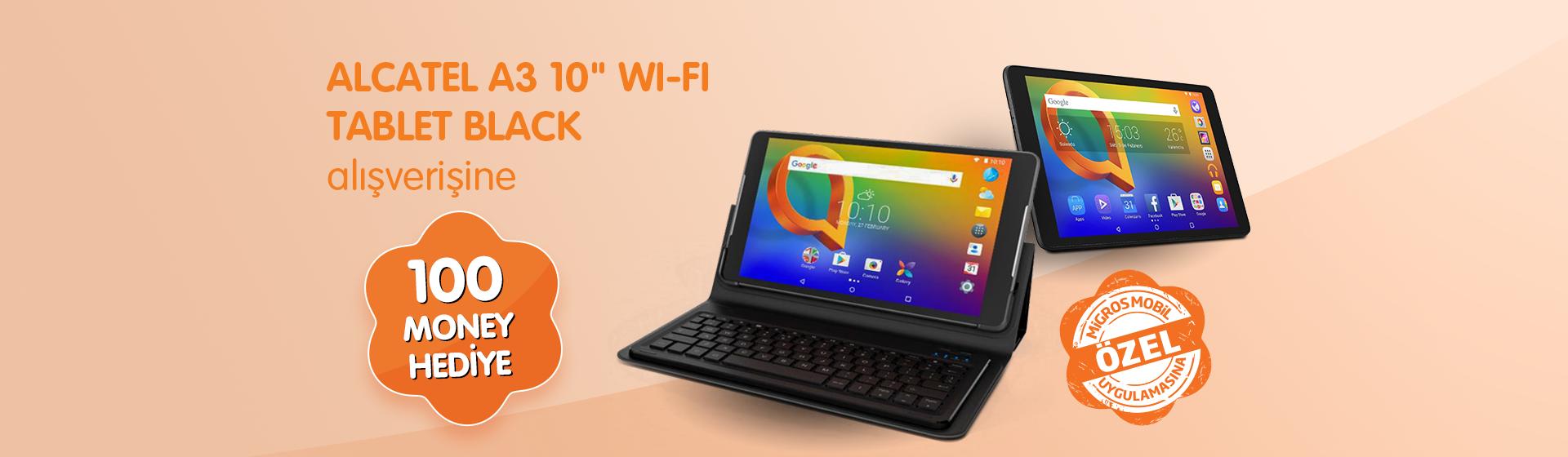 "Alcatel A3 10"" Wifi Tablet Black Money Kampanyası"