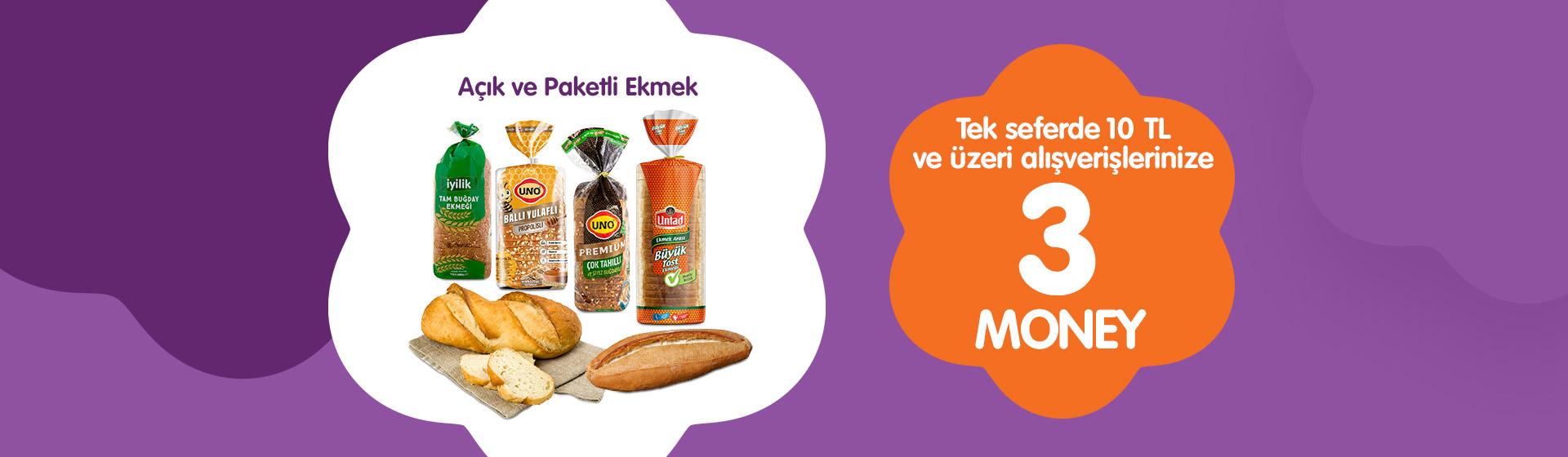Açık ve Paketli Ekmek Money Kampanyası