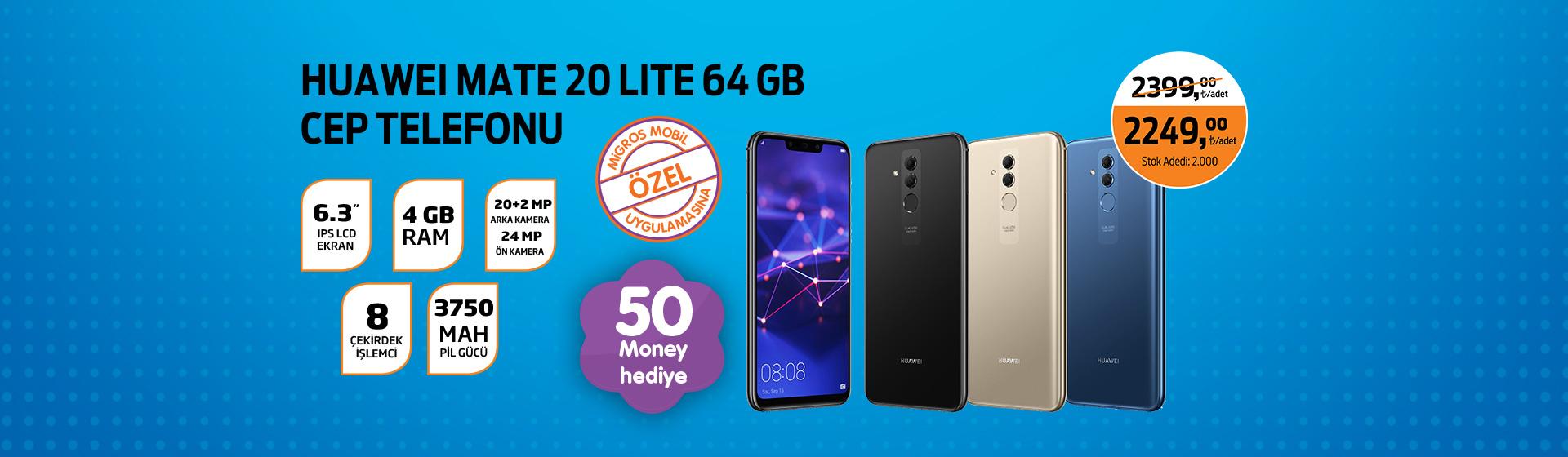 Huawei Mate 20 Lite Cep Telefonu Money Kampanyası