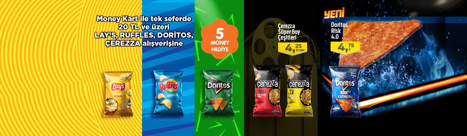 Lays, Ruffles, Doritos ve Çerezza Money Kampanyası