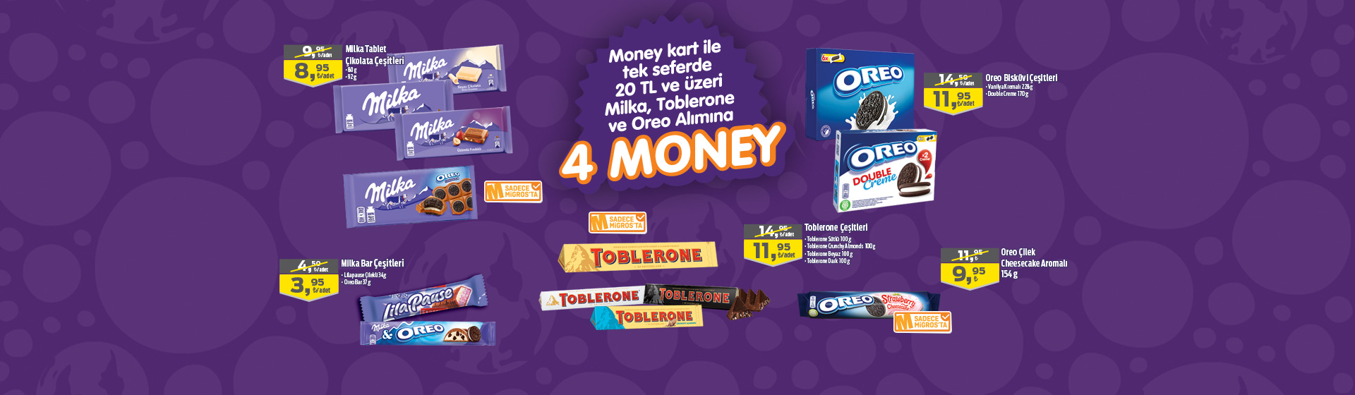 Milka-Toblerone-Oreo Money Kampanyası