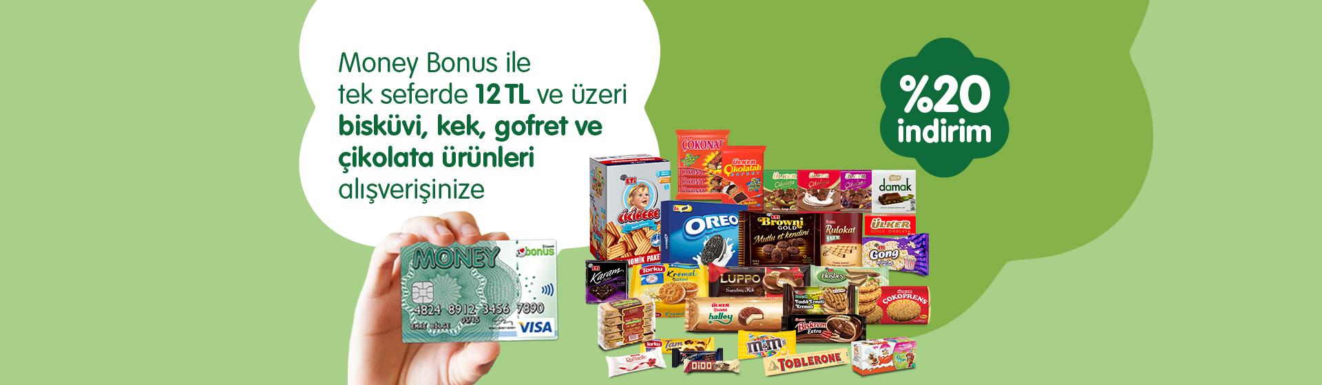 Money Bonus Bisküvi, Kek, Gofret ve Çikolata Ürünleri Kampanyası