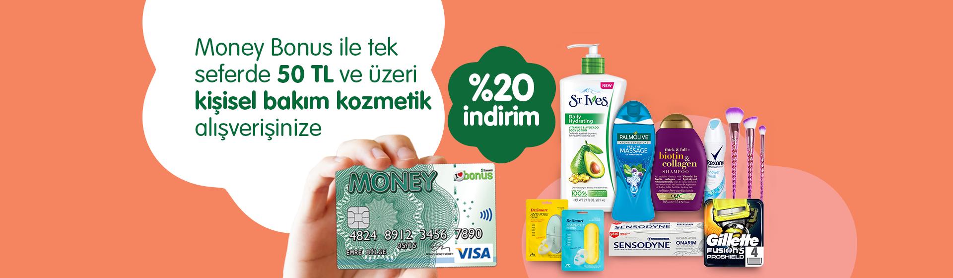 Money Bonus Kişisel Bakım Kozmetik Kampanyası