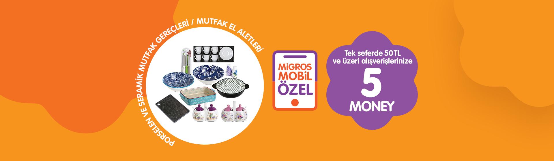 Porselen ve Seramik Mutfak Gereçleri ve El Aletleri Money Kampanyası