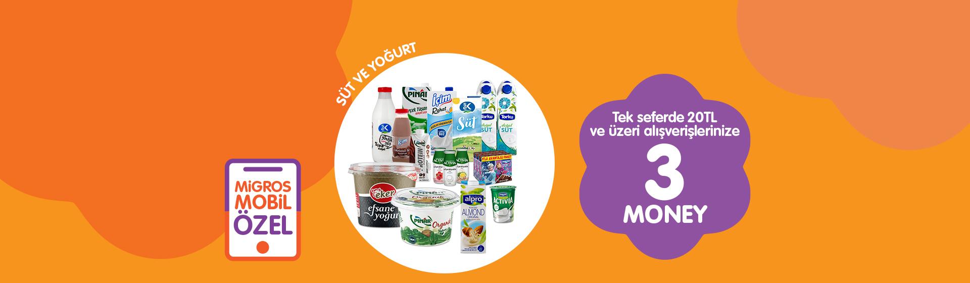 Süt ve Yoğurt Money Kampanyası