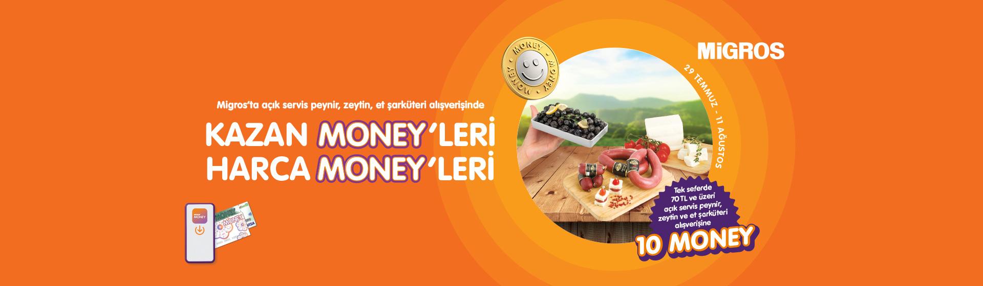 Açık Servis, Paketli Peynir, Zeytin ve Et Şarküteri Money Kampanyası