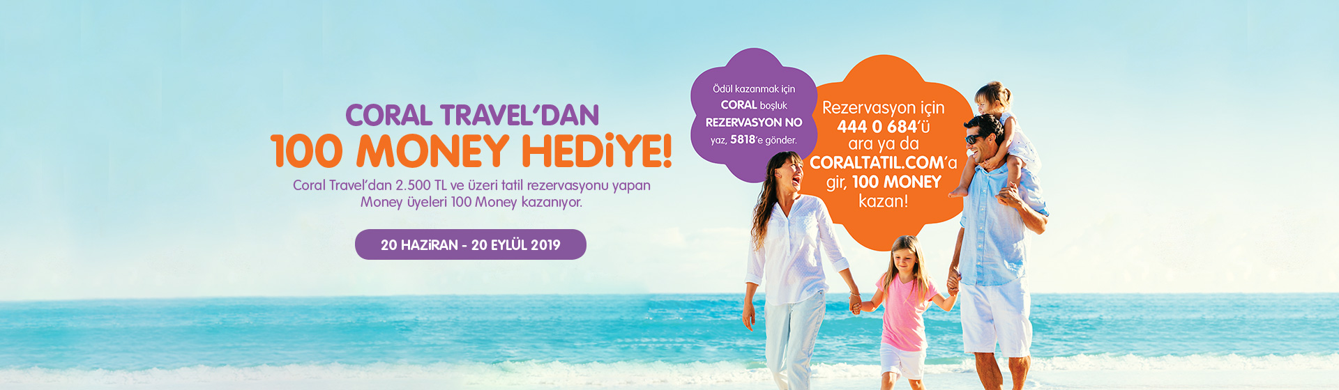 Coral Travel'dan 100 Money Hediye!